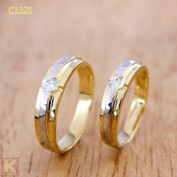 Nhẫn cưới vàng 14k C1321