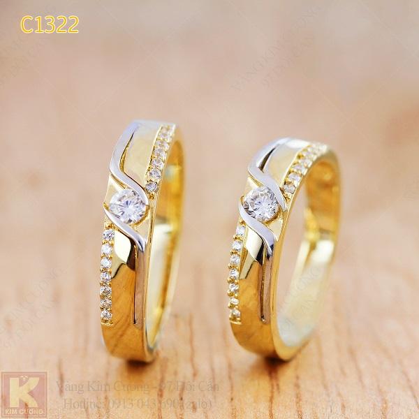 Nhẫn cưới vàng 10k korea C1322