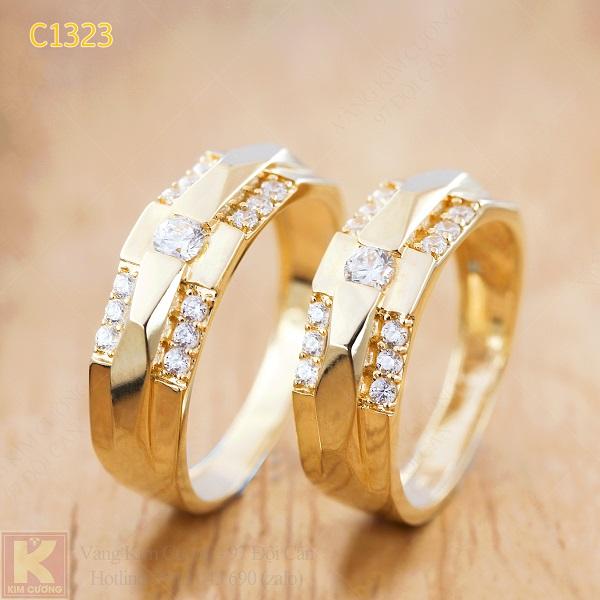 Nhẫn cưới vàng 16k C1323
