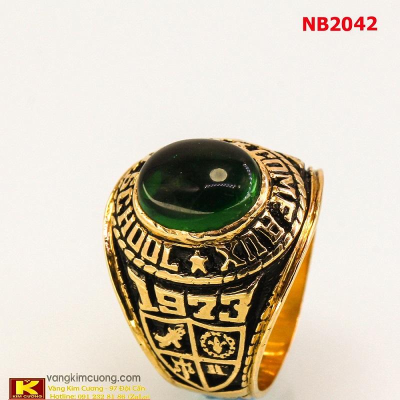 Nhẫn nam đá quý Sapphire phong thủy NB2042