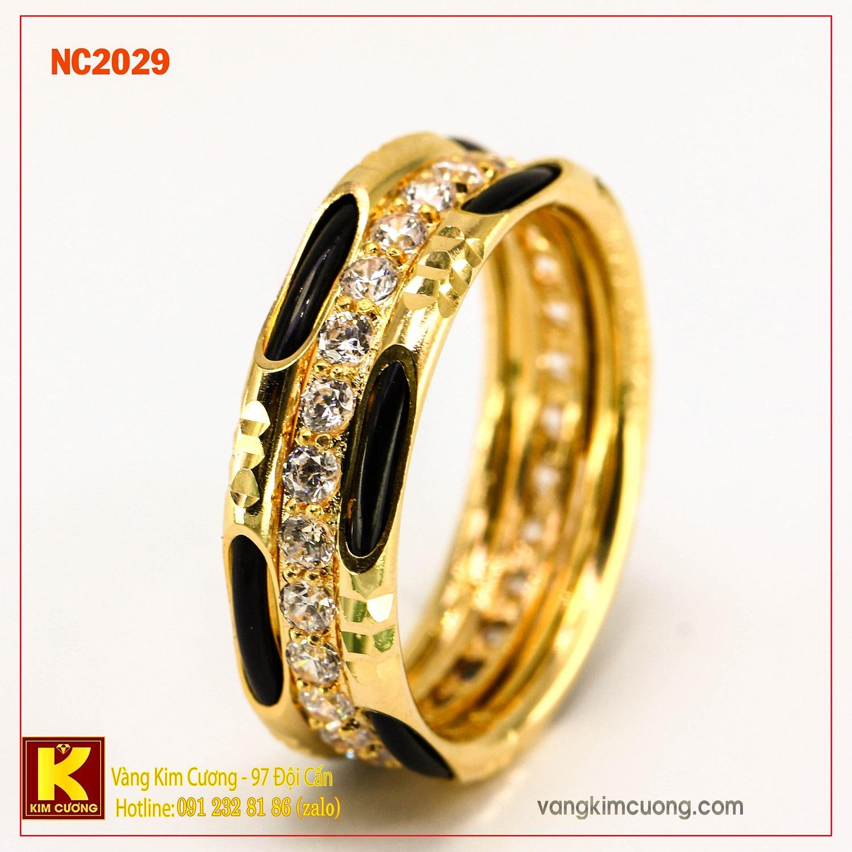 Nhẫn nam đá quý Sapphire phong thủy 16k NC2029