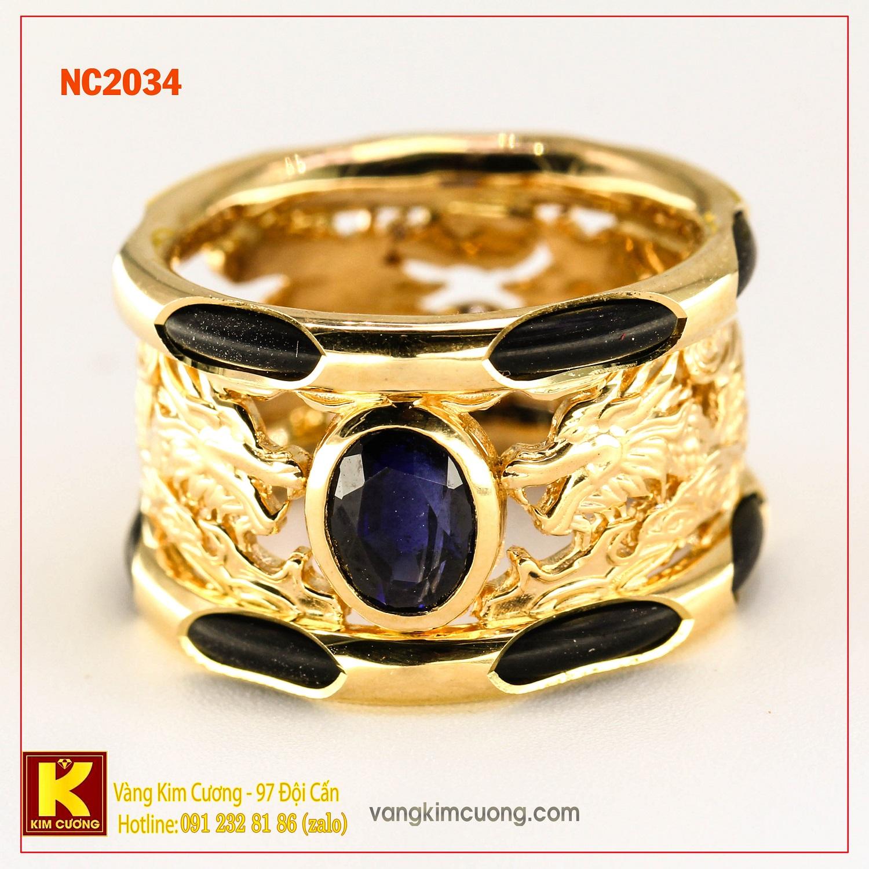 Nhẫn nam đá quý phong thủy NC2034