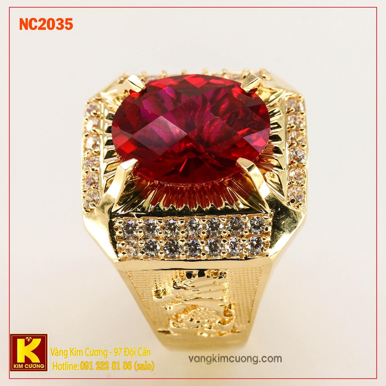 Nhẫn nam đá quý phong thủy NC2035