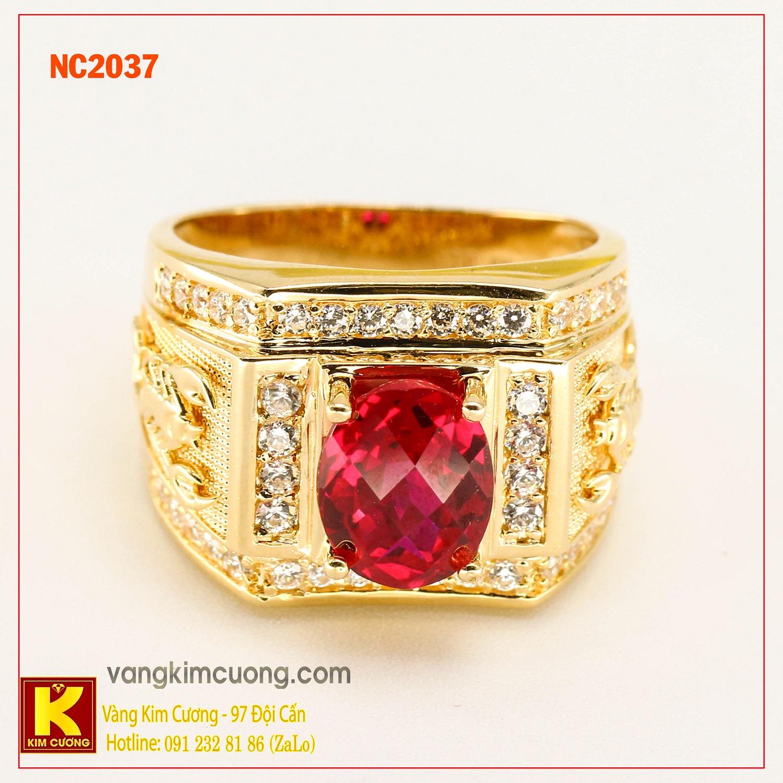 Nhẫn nam đá quý phong thủy NC2037