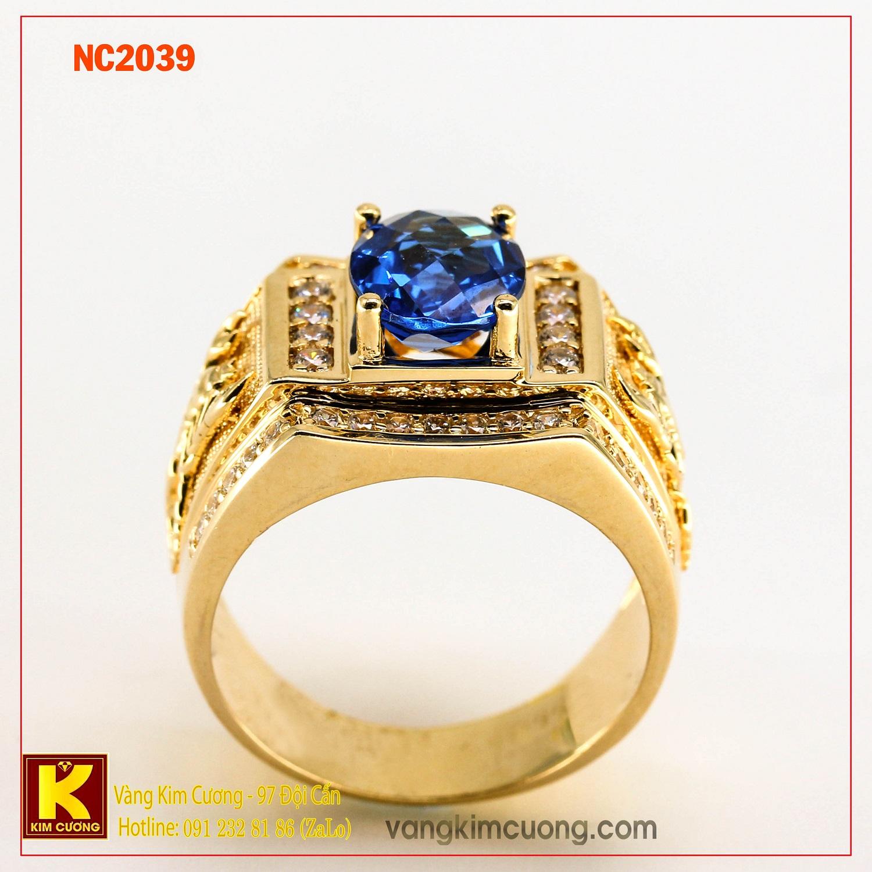 Nhẫn nam đá quý phong thủy NC2039