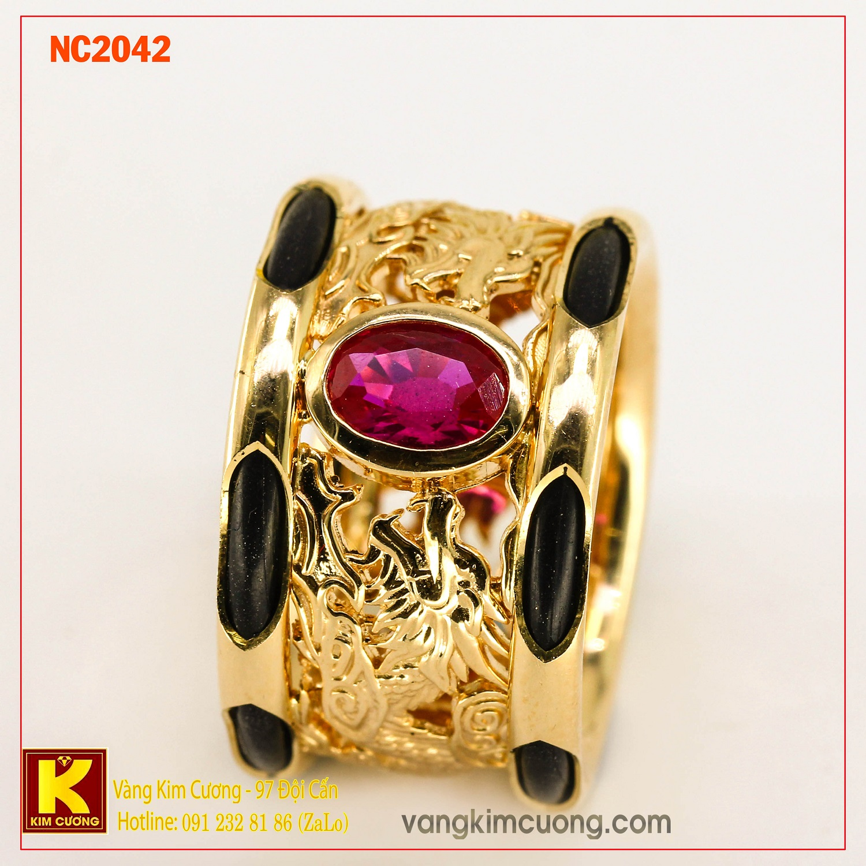 Nhẫn nam đá quý phong thủy NC2042