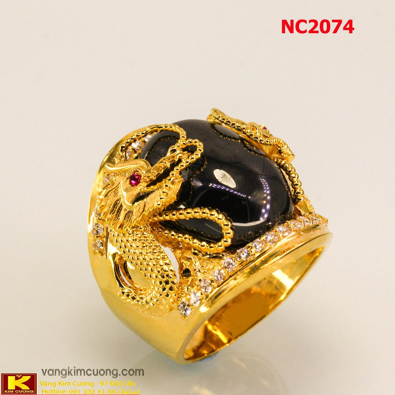 Nhẫn nam đá quý phong thủy NC2074
