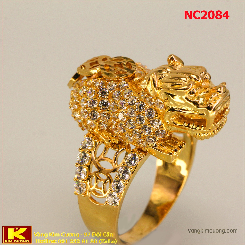 Nhẫn nam đá quý phong thủy 16k 3D NC2084