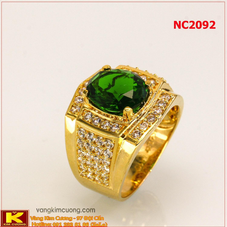 Nhẫn nam đá quý phong thủy 16k 3D NC2092
