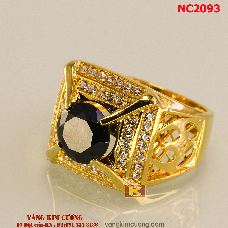 Nhẫn nam đá quý phong thủy 16k 3D NC2093