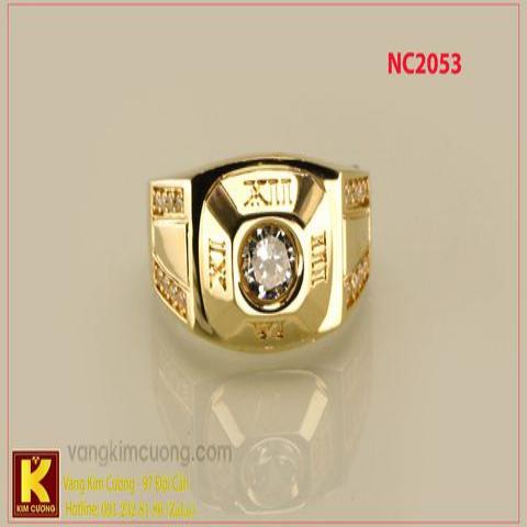 Nhẫn nam ổ kim cương nhân tạo 16k 3D NC2053
