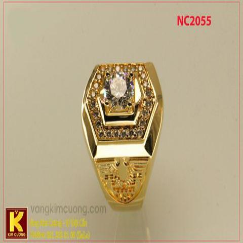 Nhẫn nam ổ kim cương nhân tạo 16k 3D NC2055