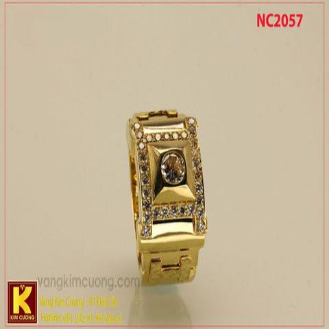 Nhẫn nam ổ kim cương nhân tạo 16k NC2057