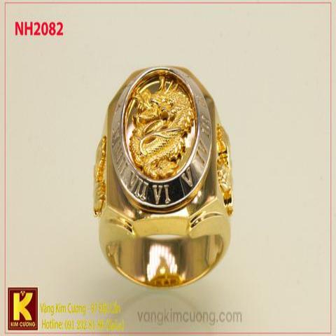 Nhẫn nam ổ kim cương nhân tạo 10k NH2082