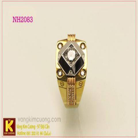 Nhẫn nam ổ kim cương nhân tạo 10k NH2083