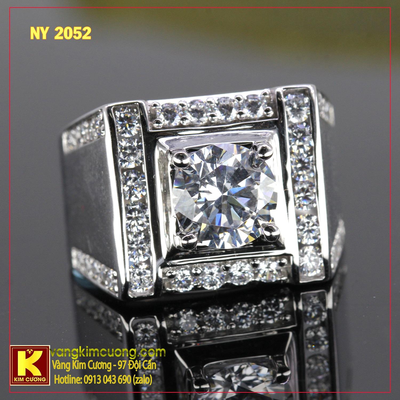 Nhẫn nam vàng trắng NY2052