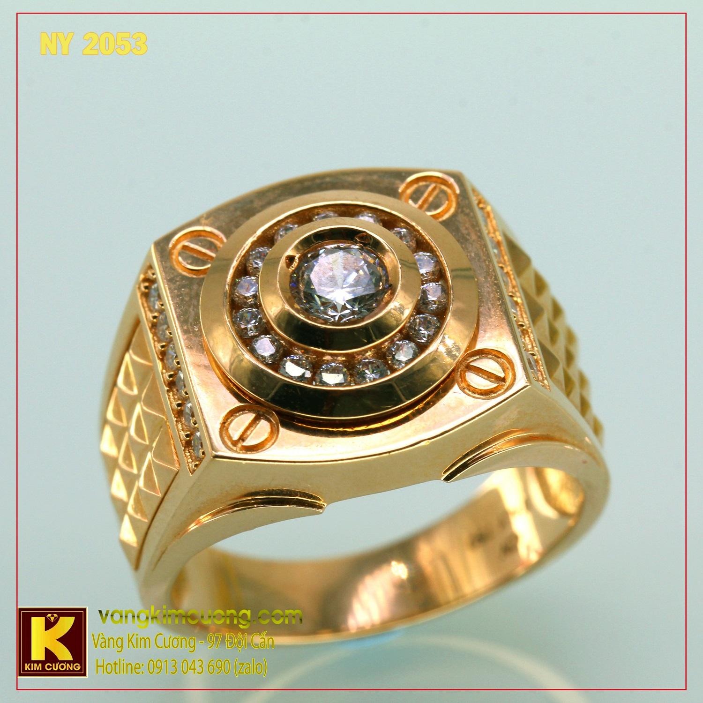 Nhẫn nam vàng trắng NY2053