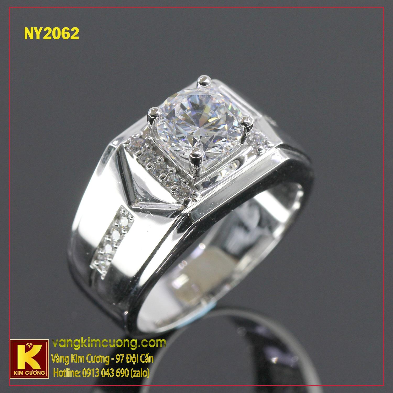 Nhẫn nam vàng trắng NY2062