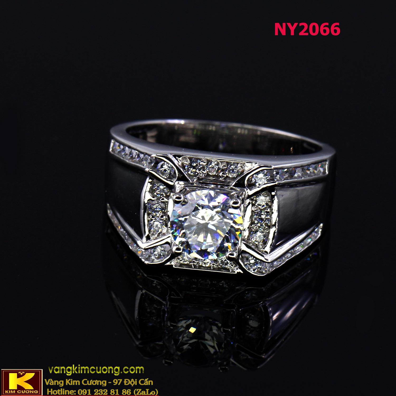 Nhẫn nam vàng trắng NY2066