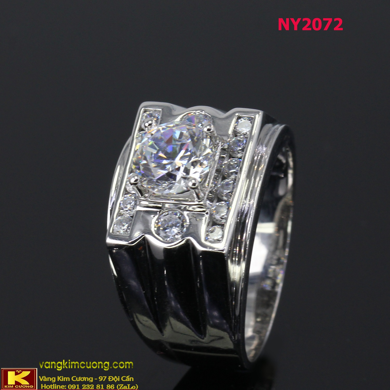 Nhẫn nam vàng trắng NY2072