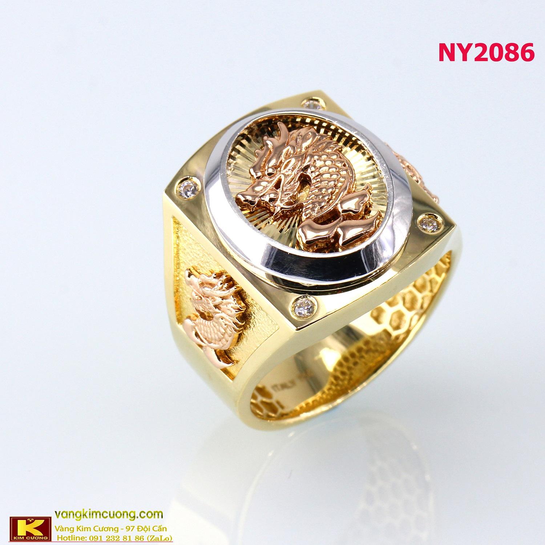 Nhẫn nam vàng trắng NY2086