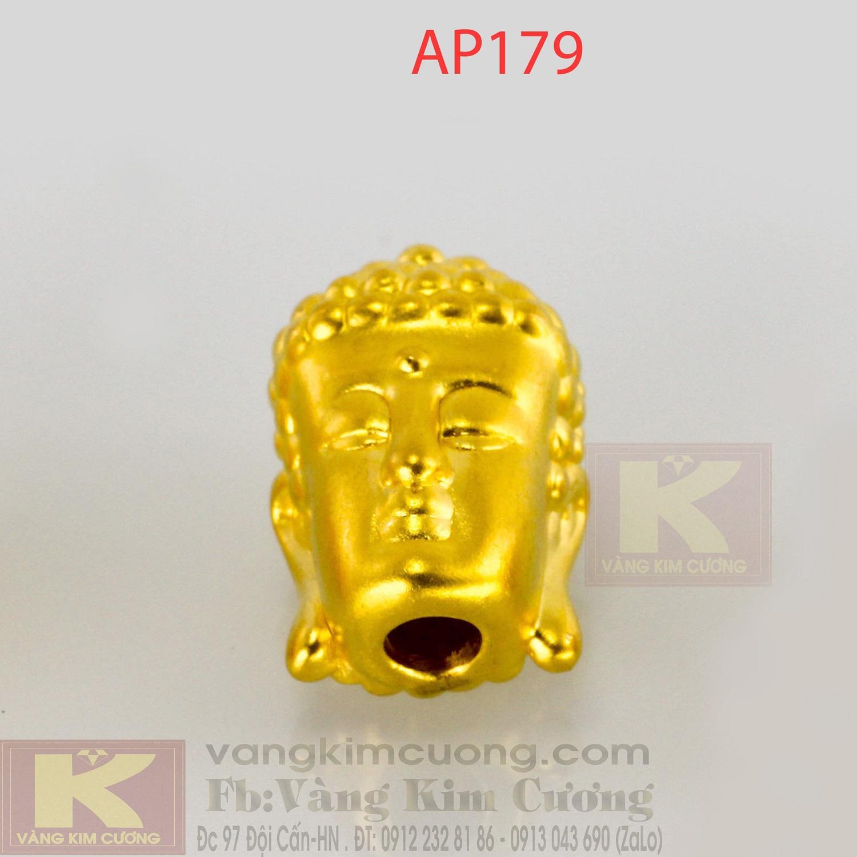 Charm mặt Phật vàng 24k mã AP179