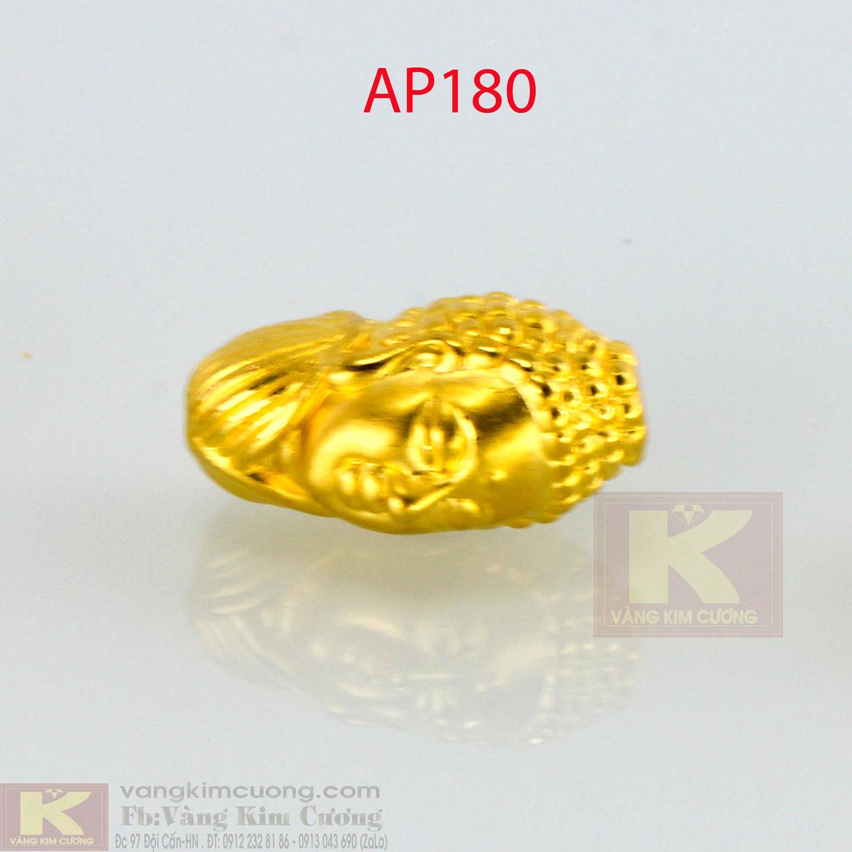 Charm mặt Phật vàng 24k mã AP180