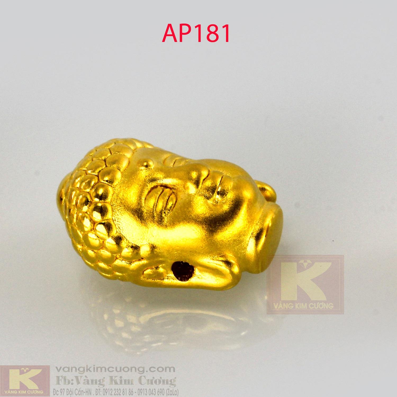 Charm mặt Phật A Di Đà vàng 24k mã AP181