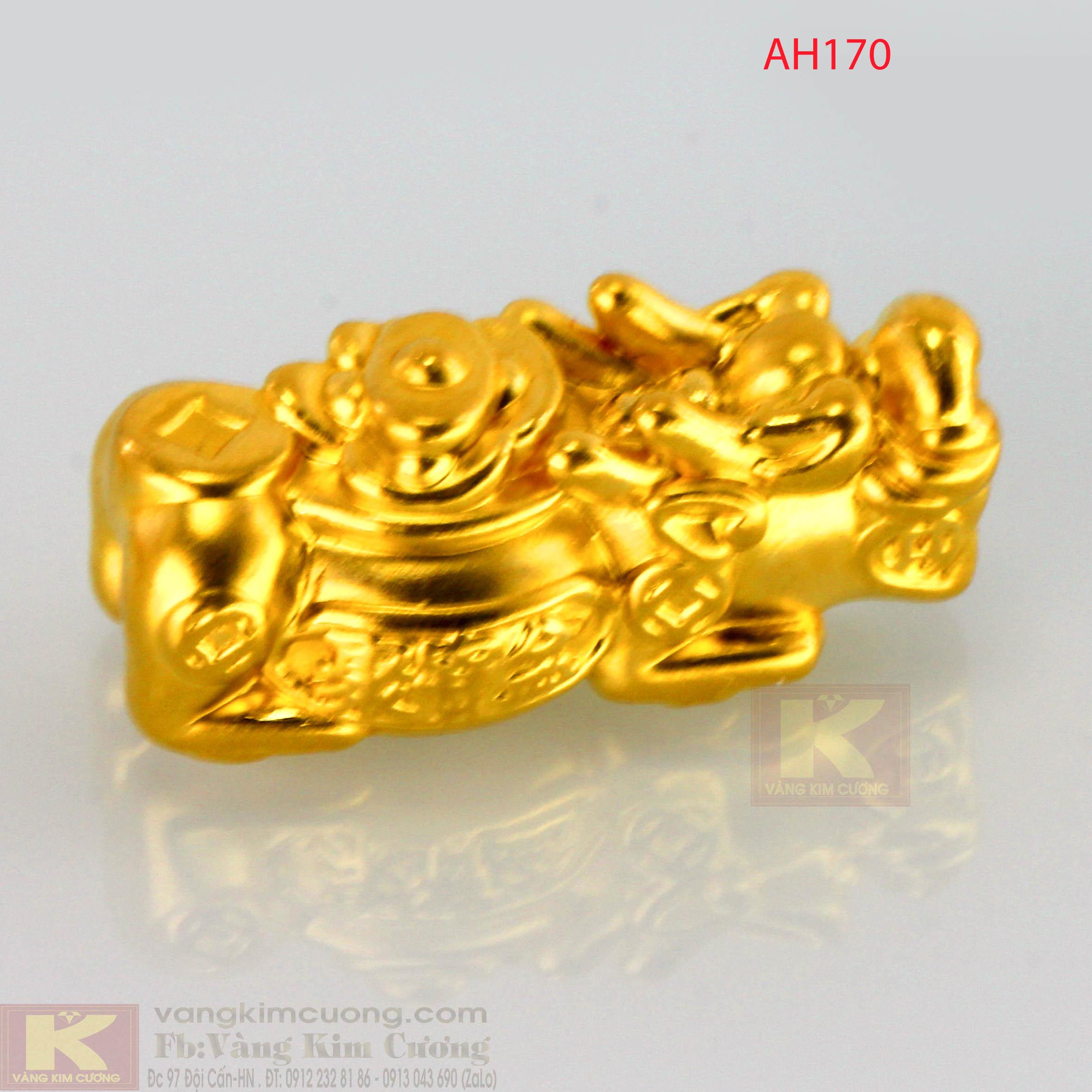 Tỳ Hưu tích tài lộc vàng 24k mã AH170