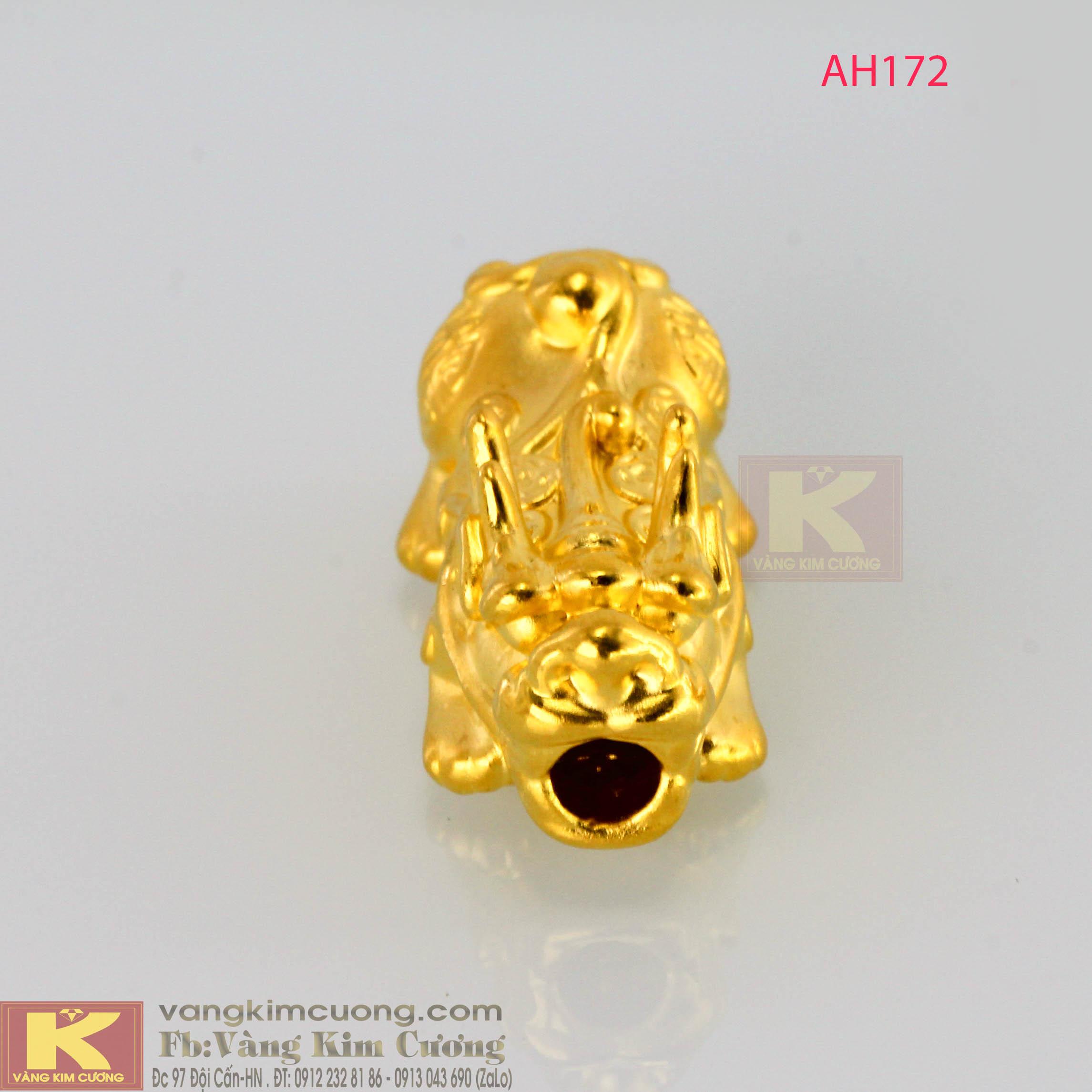 Tỳ hưu chiêu tài, tích lộc vàng 24k mã AH172