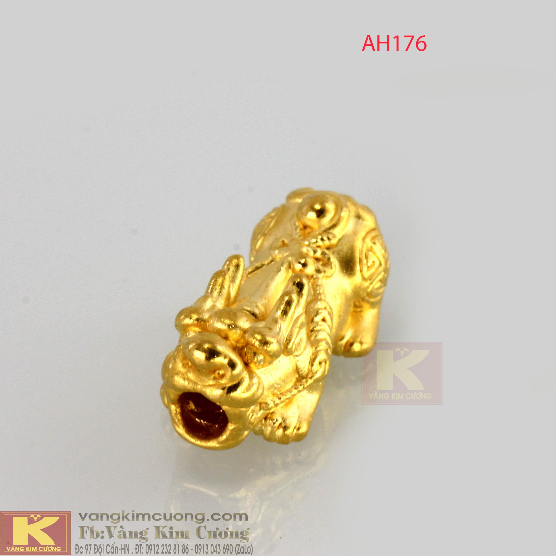 Tỳ Hưu chiêu tài lộc vàng 24k mã AH176