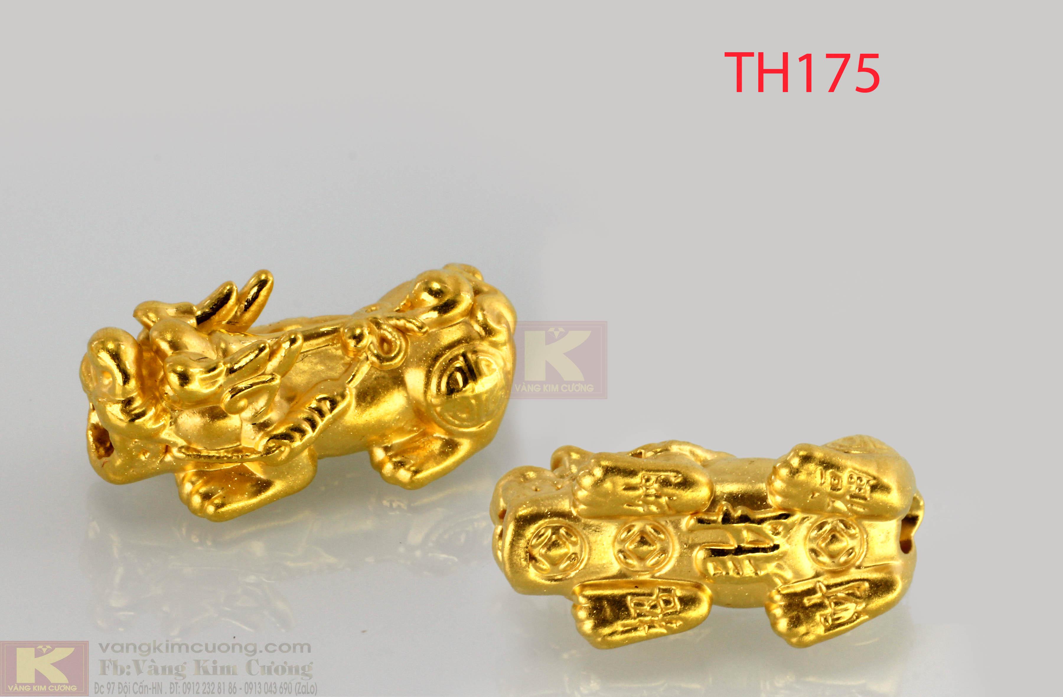 Đôi Charm Tỳ Hư tích lộc vàng 24k mã TH175
