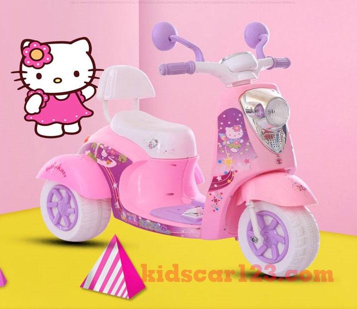 Xe máy điện công chúa Elsa màu hồng 2