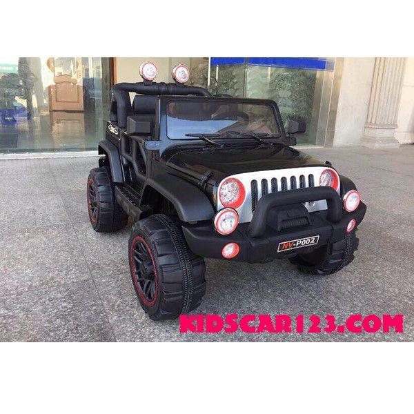 Xe điện cho trẻ Jeep-P002 đen 01 thumnail