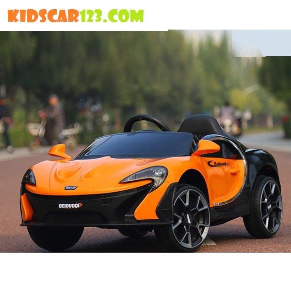Xe hơi điện dành cho trẻ em Mc Laren BDQ 1199 thumnail màu cam 01
