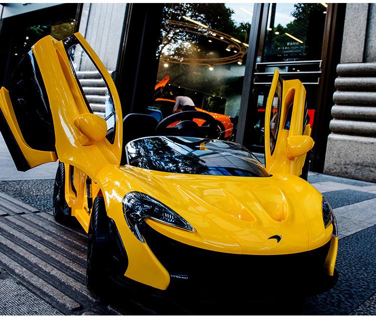 Siêu xe điện dành cho trẻ - McLaren 672R màu vàng thumnail 02