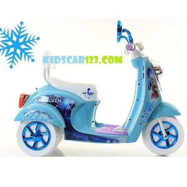 Xe máy điện công chúa Elsa - QM 168 thumnail 2