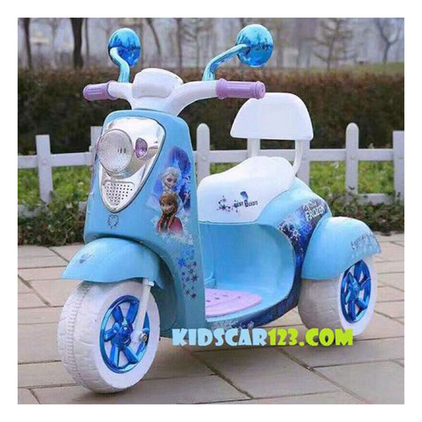 Xe máy điện công chúa Elsa - QM 168 thumnail 1