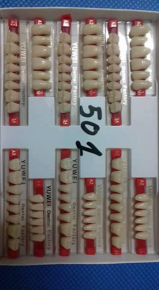 Răng nhựa nha khoa yuwen giá 40 nghìn 1 vỉ