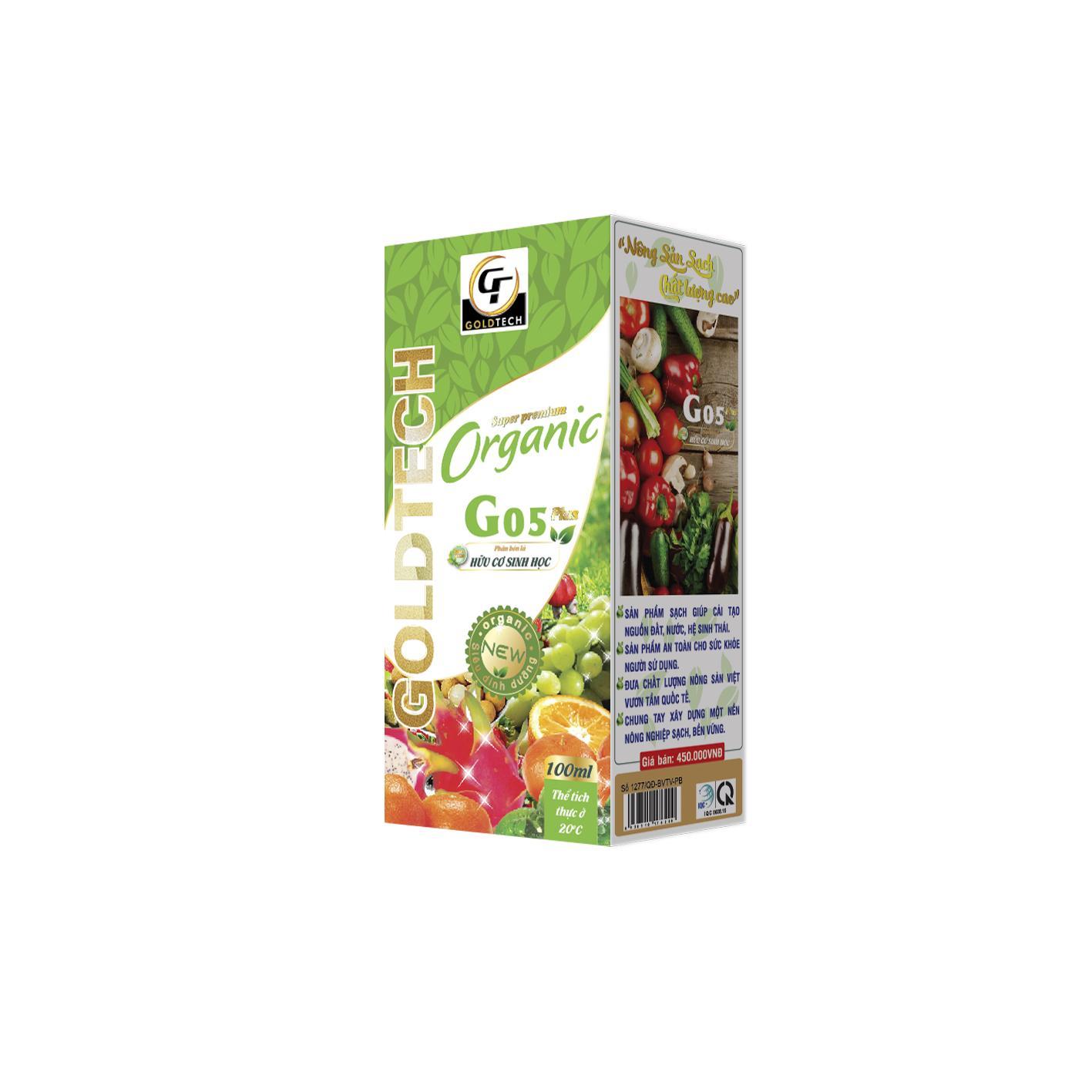 Phân bón lá hữu cơ sinh học G05 Plus