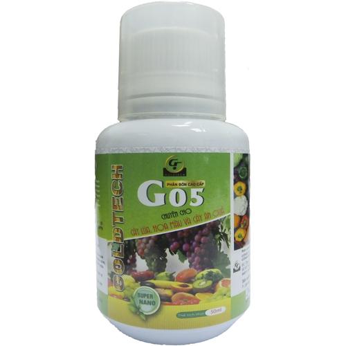 [CHAI 50ML] Phân bón cao cấp Goldtech G05 cho cây lúa, hoa màu, cây ăn quả