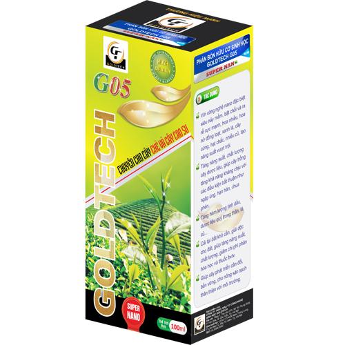 Phân bón hữu cơ sinh học G05 chuyên cho cây chè và cây cao su