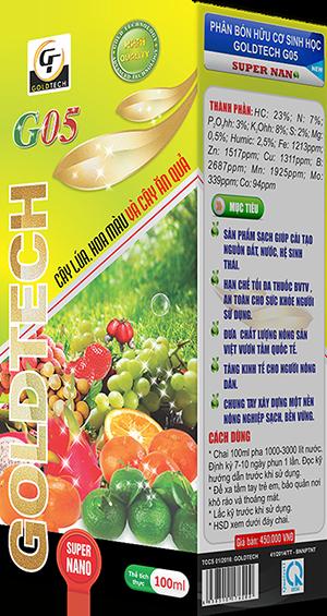 [CHAI 100ML] Phân bón hữu cơ sinh học G05 chuyên cho cây lúa, hoa màu và cây ăn quả