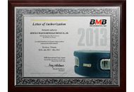 Certificate BMB Việt Nam 2013