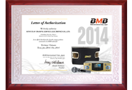 Certificate BMB Việt Nam 2014