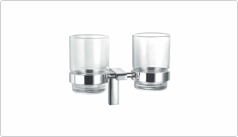 BFA 28930A - BRASS TUMBLER HOLDER WITH GLASSES