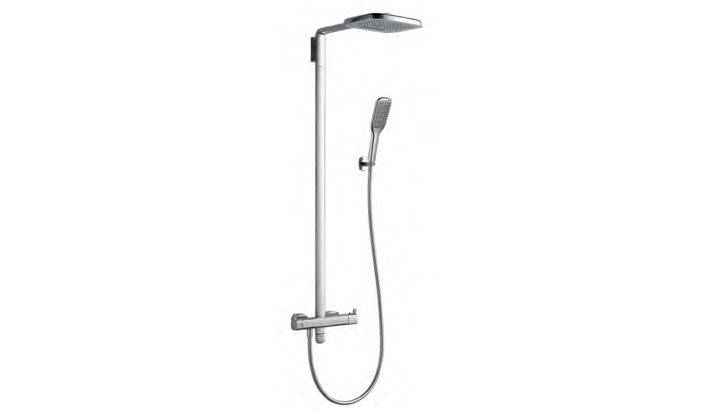 BF 930 580S - Thermostatic Waterfall Shower Column Mixer