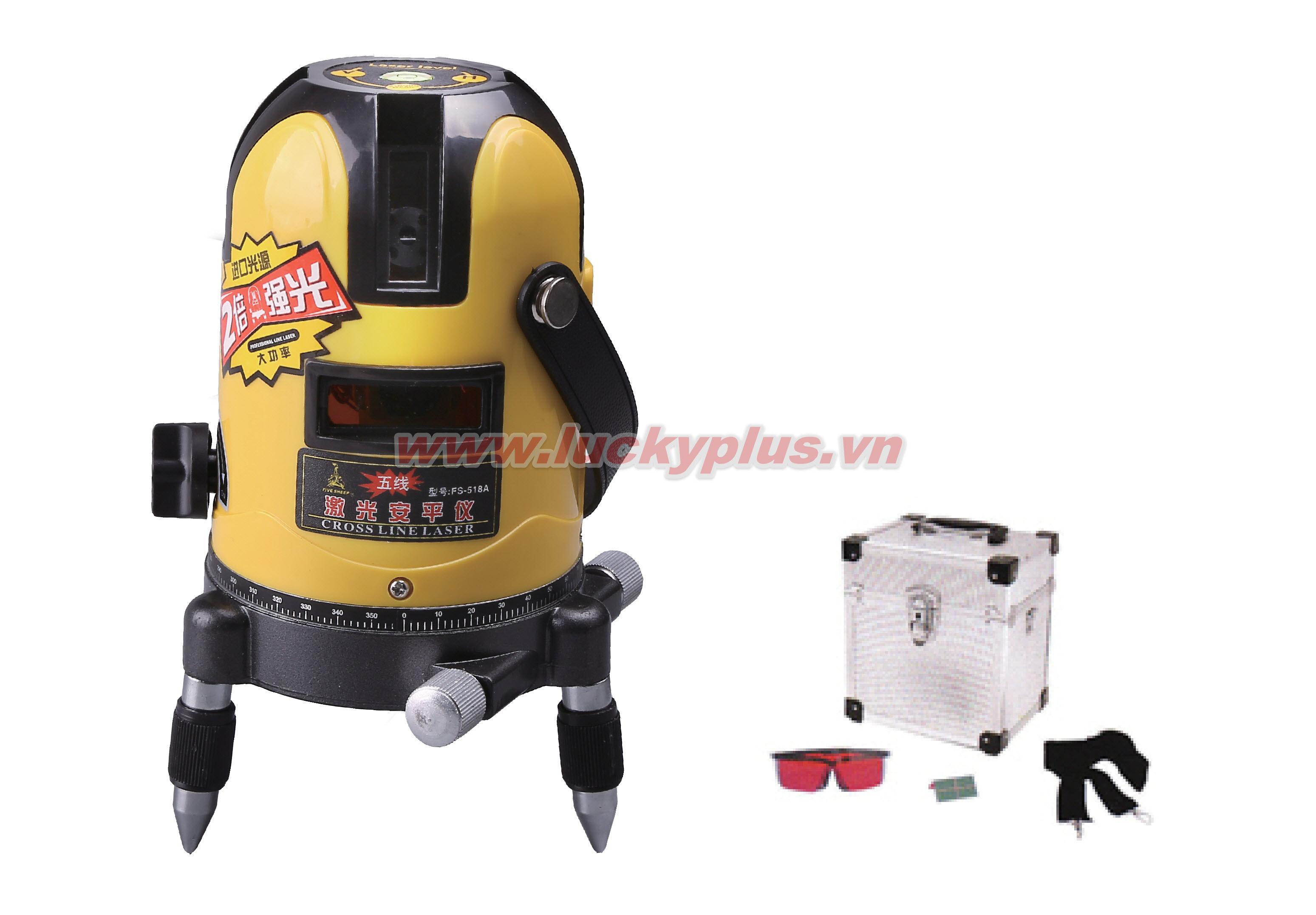 Đèn rọi laser FiveSheep FS-118A 2 tia, FS-318A 3 tia, FS-518A 5 tia