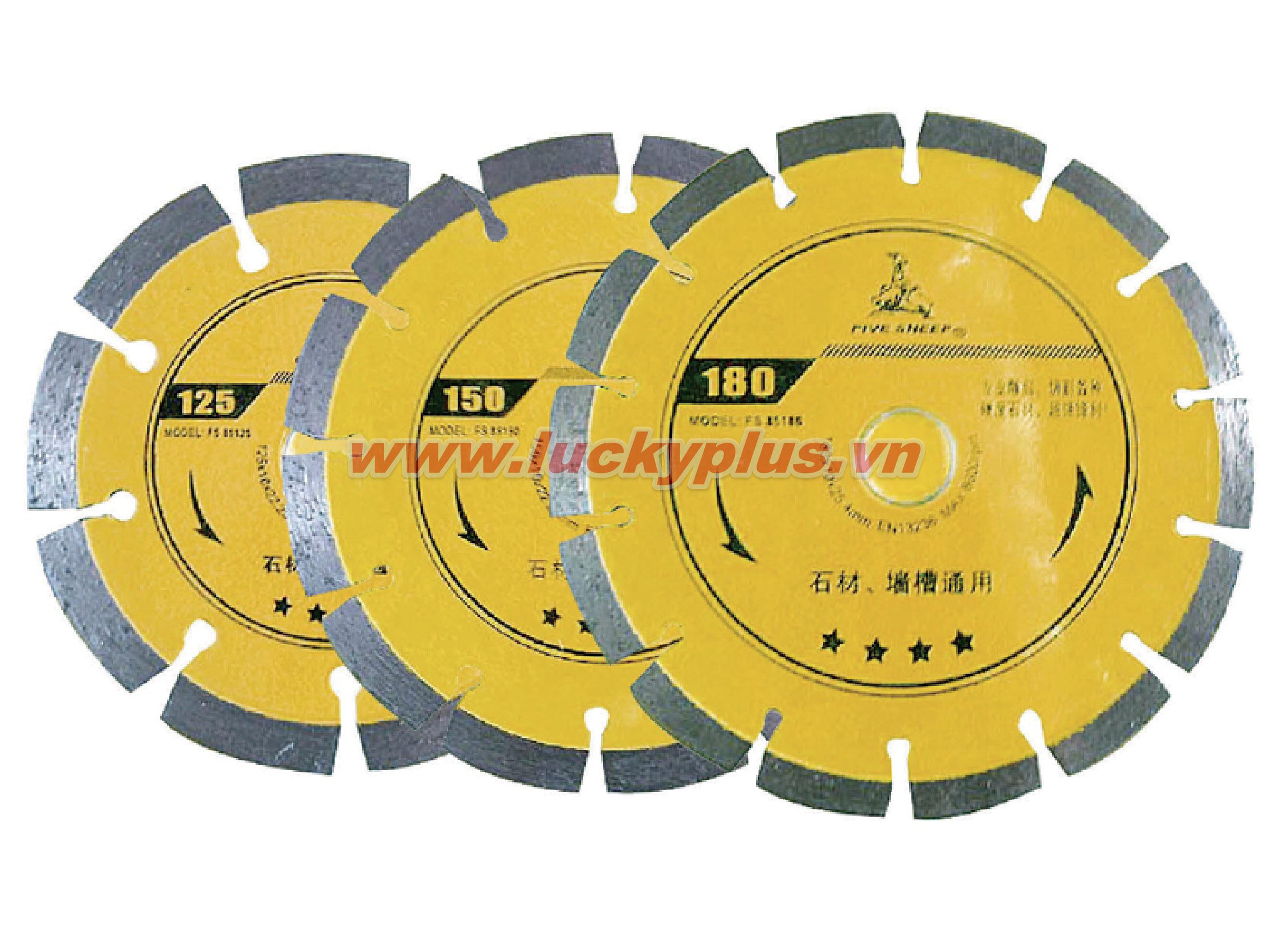 Đá cắt  FiveSheep FS-85125 125mm, FS-85150 150mm, FS-85180 180mm
