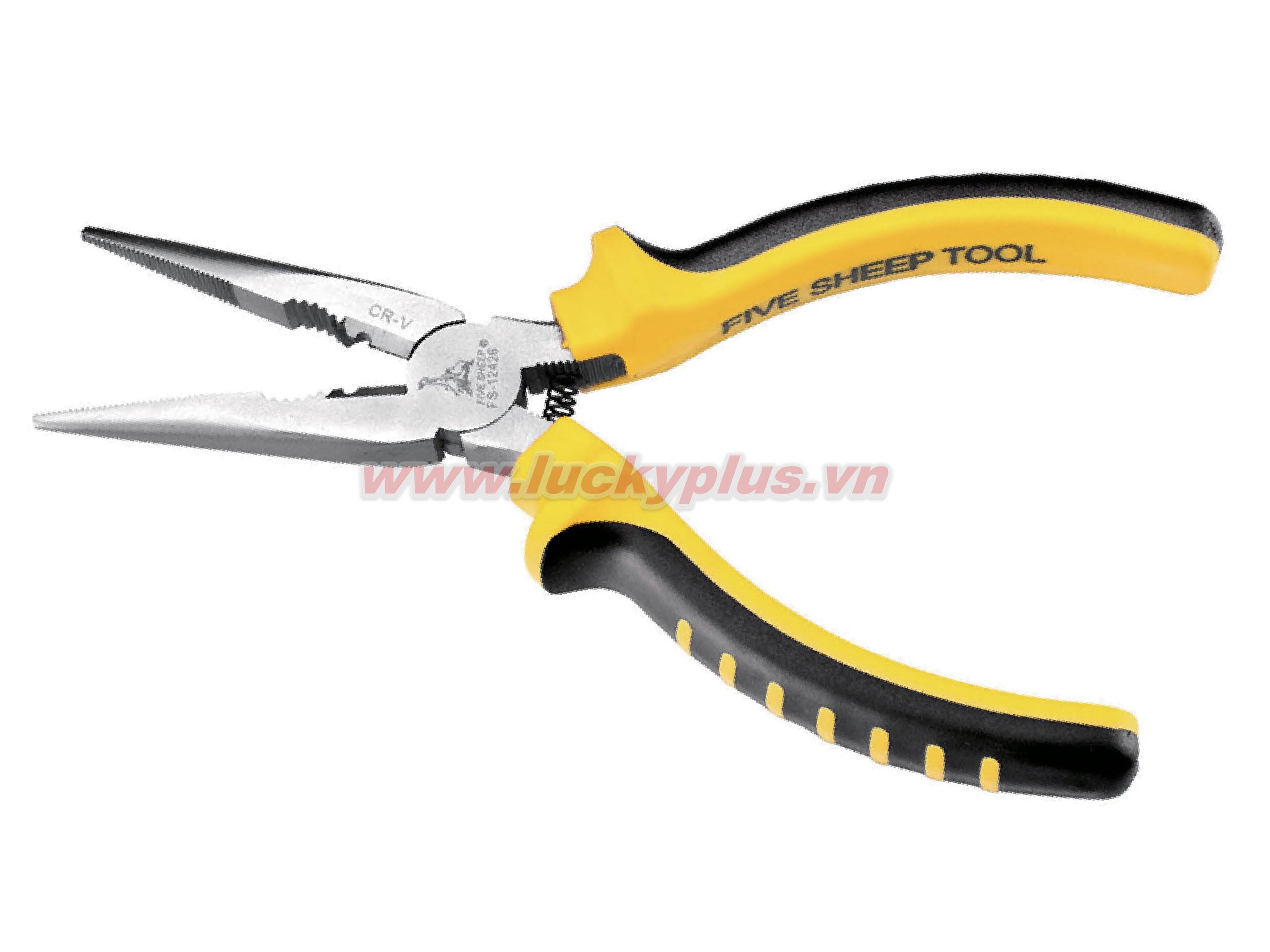 Kìm mũi nhọn FiveSheep FS-12726 6''/160mm, FS-12728 8''/200mm